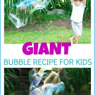 Giant Bubble Recipe for Kids
