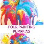 Pour Painting Pumpkin Decorating