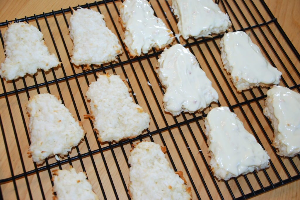 Chocolate Coconut Macaroon Ghost Cookies