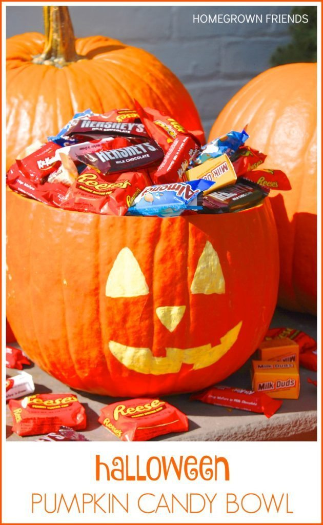 Halloween Pumpkin Candy Bowl