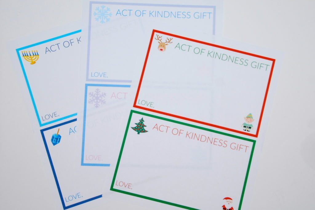 Acts of Kindness Holiday Gift Cards
