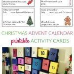 Christmas Advent Calendar Activity Cards