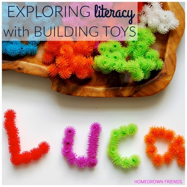 Exploring Literacy with Building Blocks