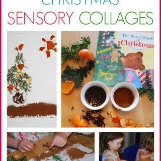 Sweet Smell of Christmas Sensory Collages