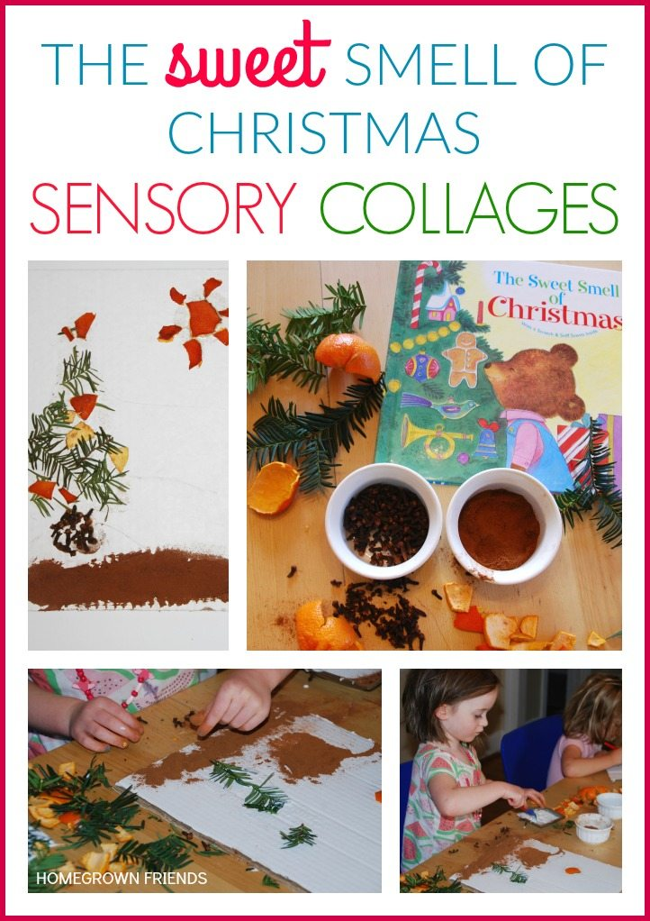 The Sweet Smell of Christmas Sensory Collages