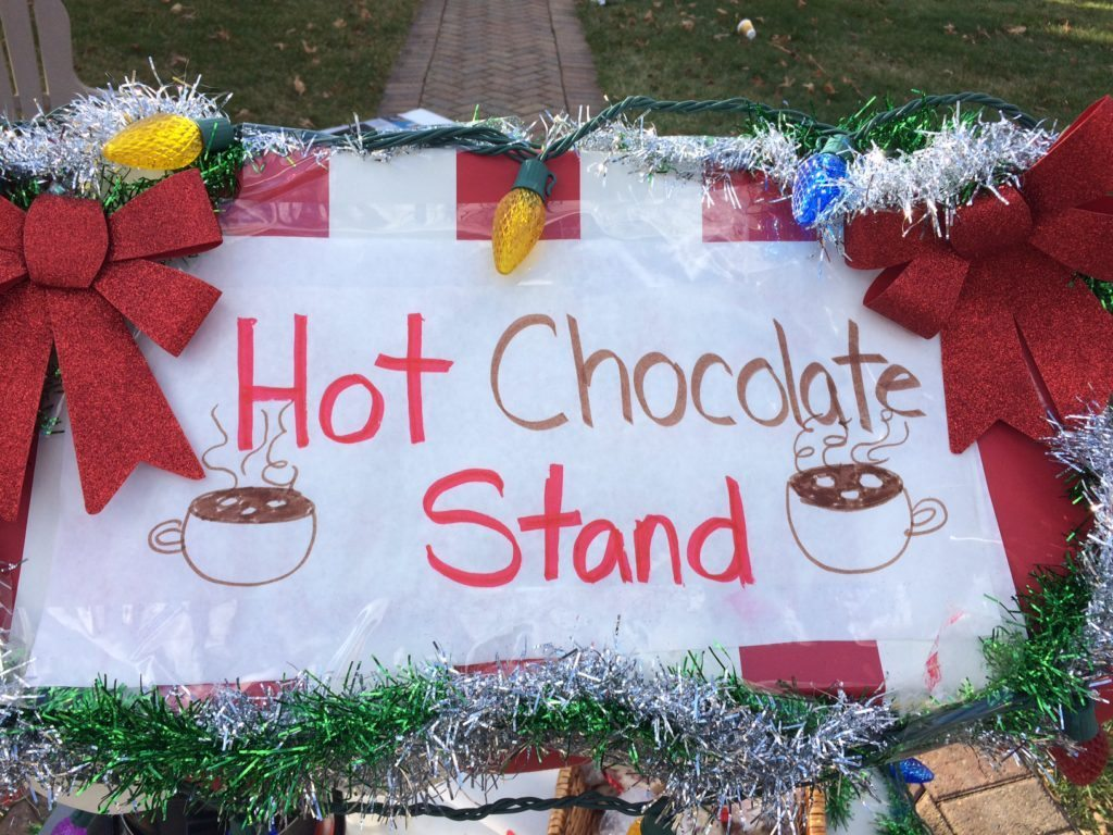 Hot Chocolate Stand Sign