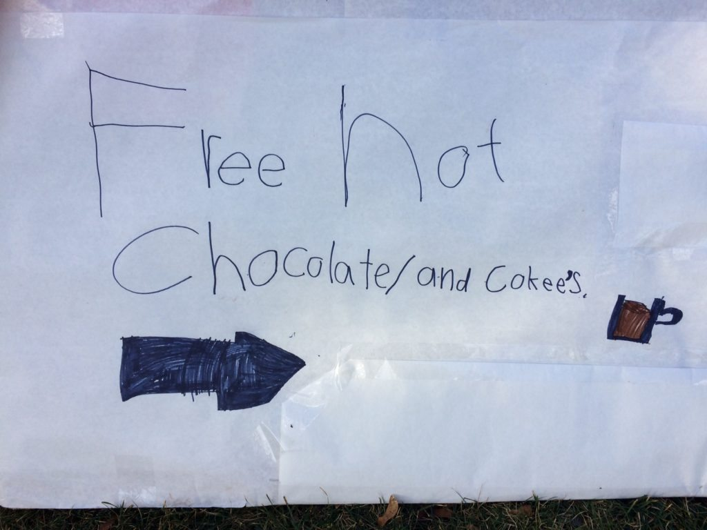 Hot Chocolate Stand ad