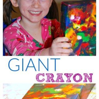 Homemade Giant Crayon