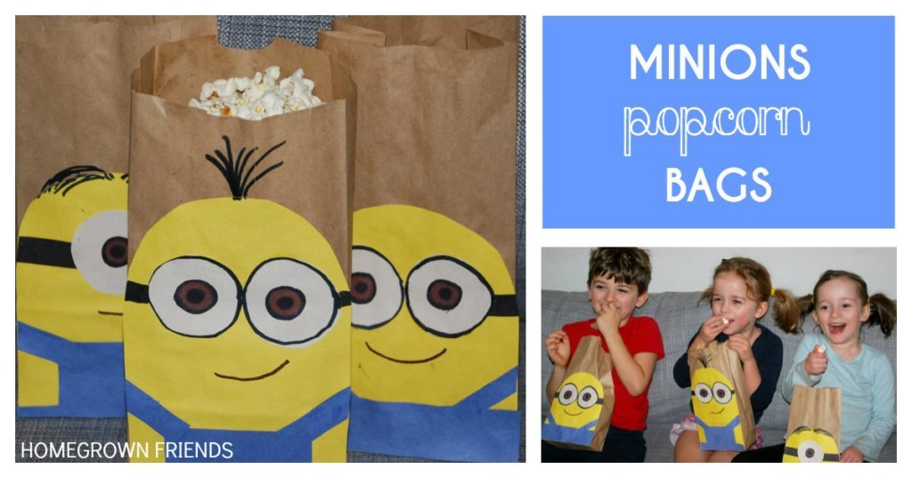 Minions Movie Party Ideas- Minions Popcorn Bags