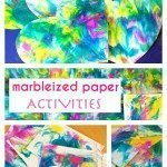 Marbleized Shaving Cream Paper Activities