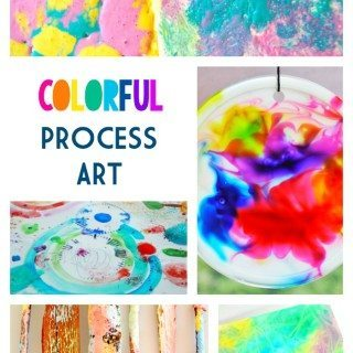 Colorful Process Art for Kids