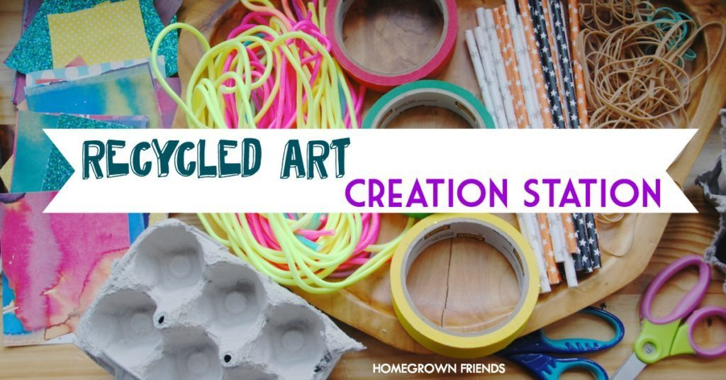 Recycled Art Creation Station