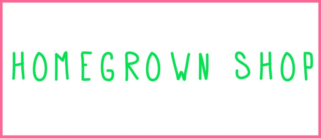 At Homegrown Shop you can purchase Homegrown Studio t shirts, playdough kits, art kits and books!