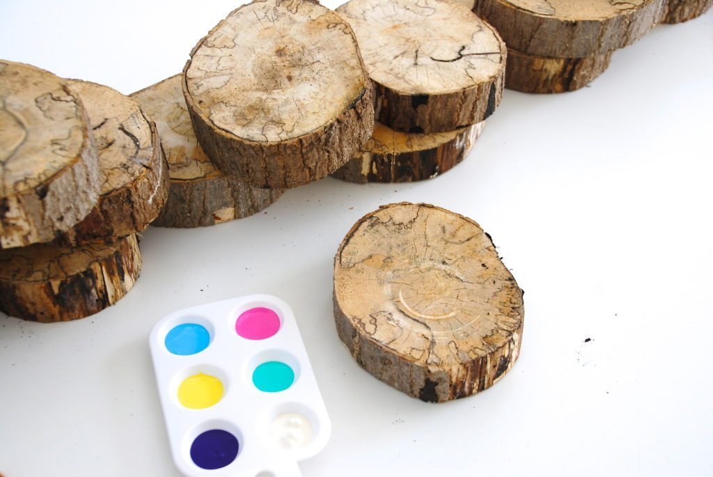 Painted Wood Slices
