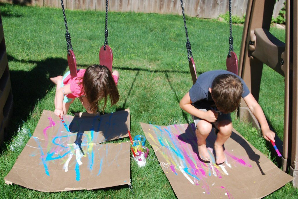 Swing Painting at the Homegrown Friends Art Studio
