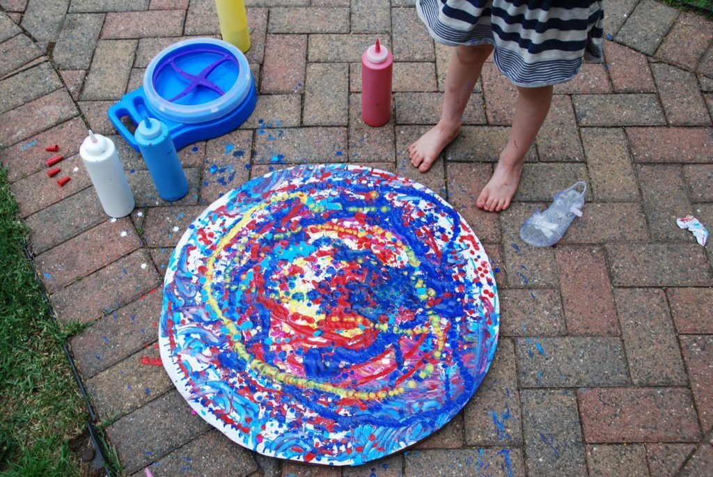 GIant Paint Spin Art