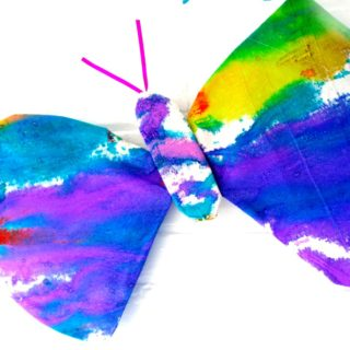 Watercolor Butterfly Wings Art