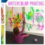 Collaborative Toddler Watercolor Painting