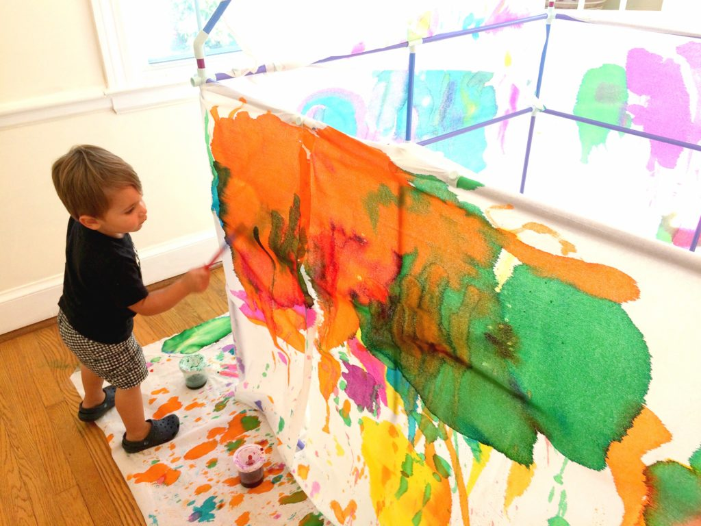 Giant Fort Painting for Kids - Homegrown Friends