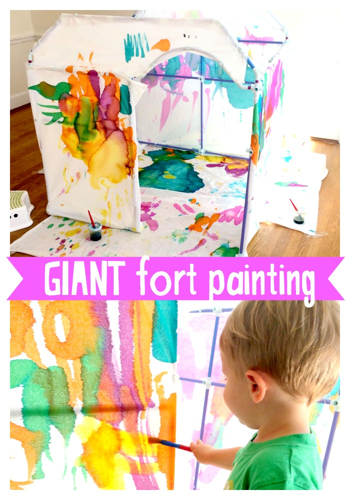 Giant Fort Painting for Kids