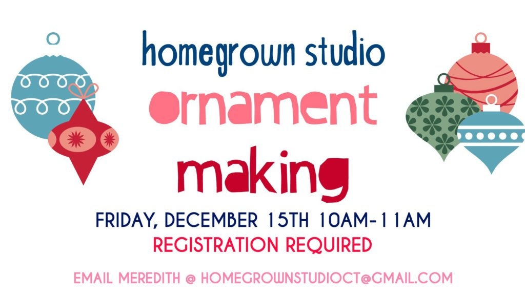 Ornament Making Party at Homegrown Studio in West Hartford, CT