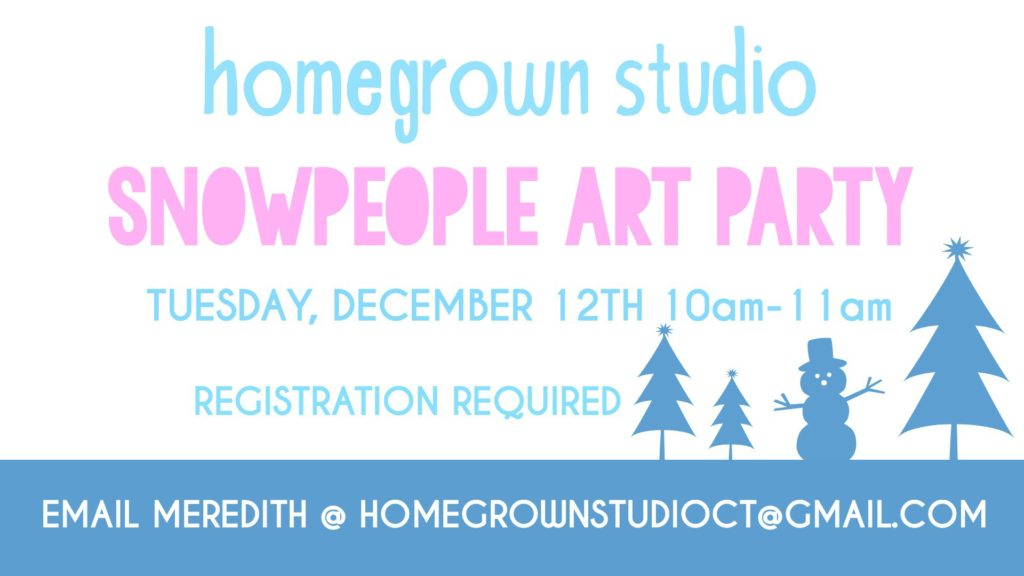 Snowpeople Art Party at Homegrown Studio in West Hartford, CT