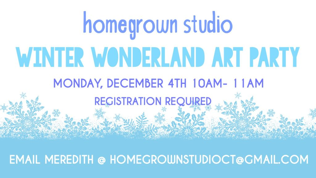 Winter Wonderland Art Party at Homegrown Studio in West Hartford, CT