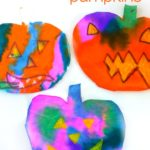 Oil Pastel Resist Watercolor Paint Pumpkins