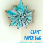 Giant Paper Grocery Bag Snowflakes