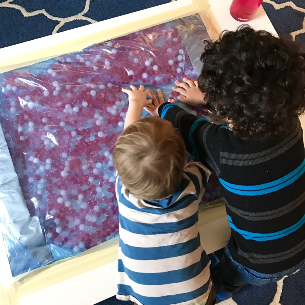 Exploring the Giant Water Bead Sensory Table