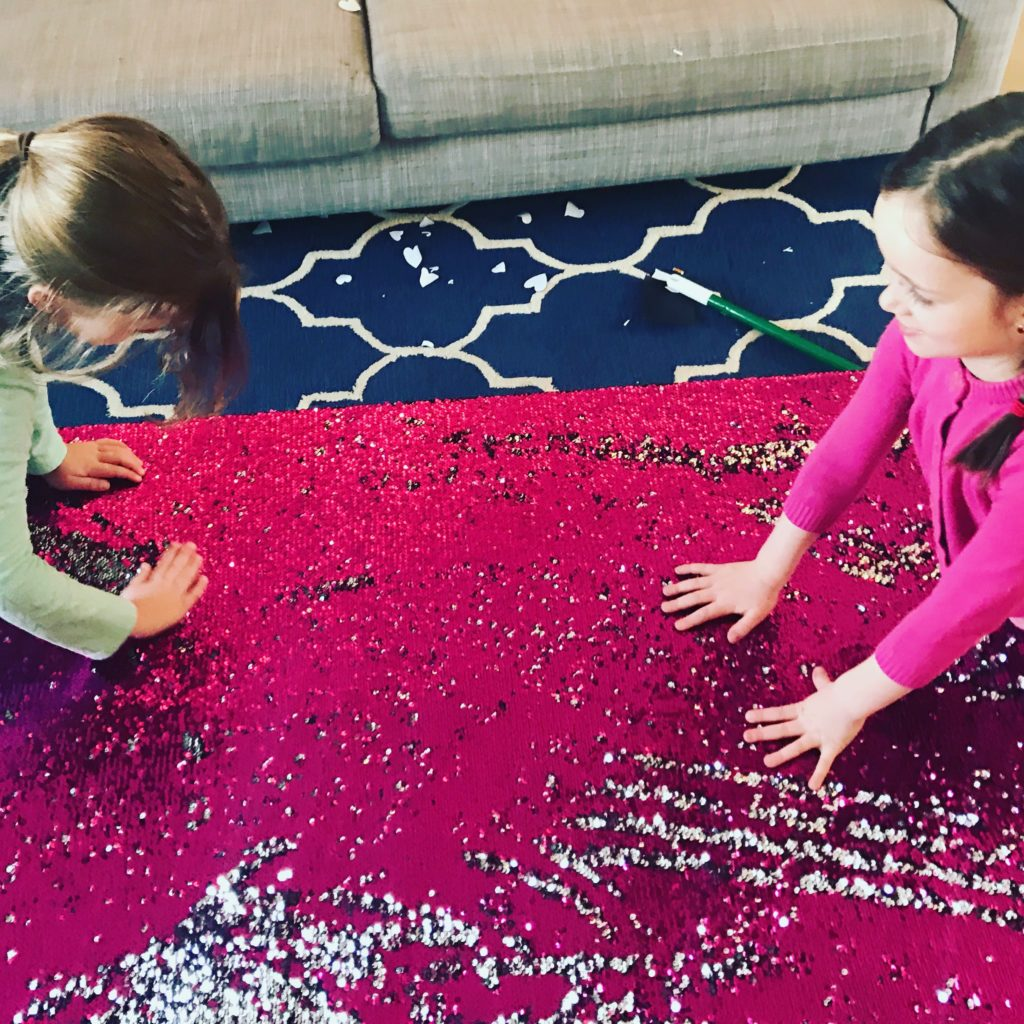 playing with the Giant Mermaid Fabric Sensory Board