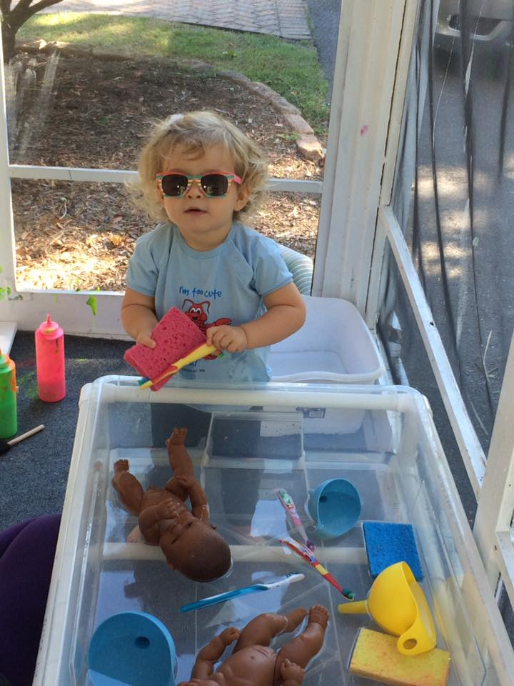 water play is one of the fun easy toddler playgroup ideas
