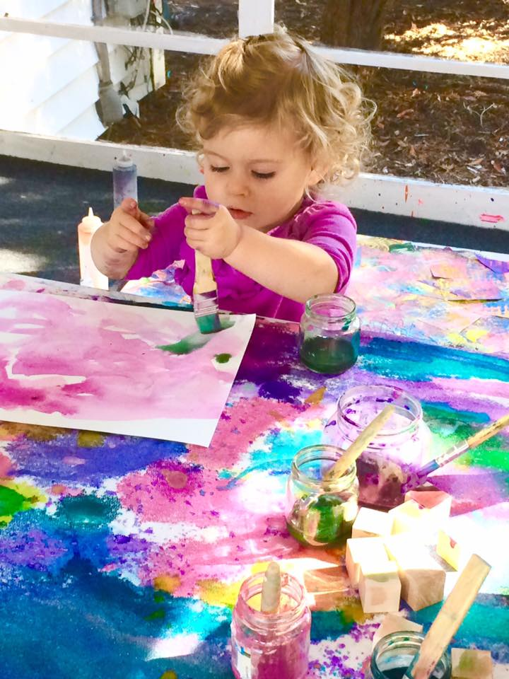 watercolor paintings are on e of the fun easy toddler playgroup ideas