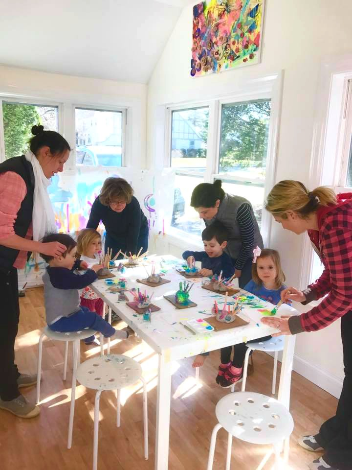 the studio space for easy fun toddler playgroup ideas