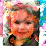Painted Black and White Photography Portrait Canvases