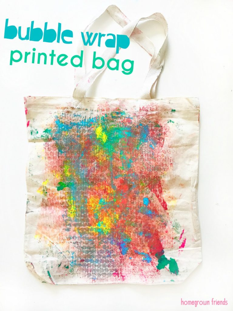 Bubble Wrap Printed Tote Bgs