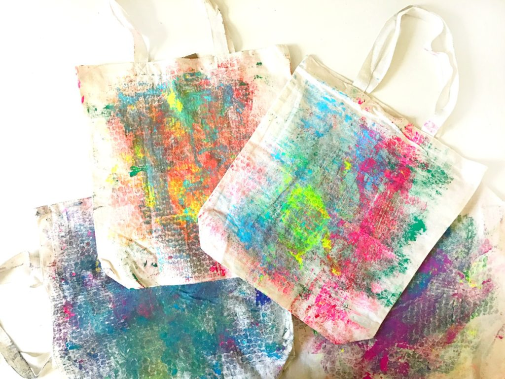 Bubble Wrap Printed Tote Bags