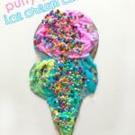 Puffy Paint Ice Cream Cone Craft