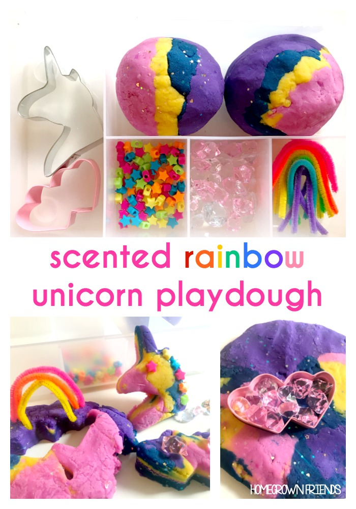 Sparkly Scented Rainbow Unicorn Playdough Kit
