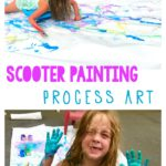 scooter painting process art for kids