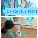 Kid Painted Pretend Ice Castle Fort