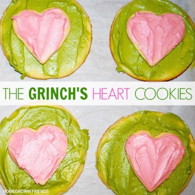 Grinch S Heart Cookies Homegrown Friends