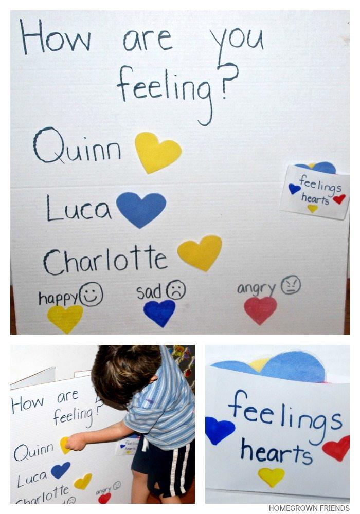 Feelings Chart For Children  Homegrown Friends