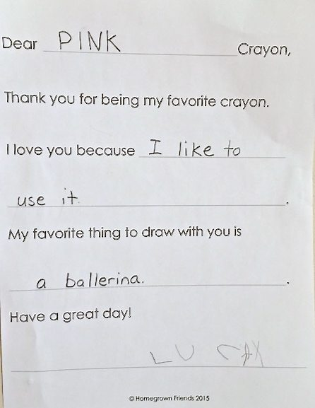 Thank You Letter Activity