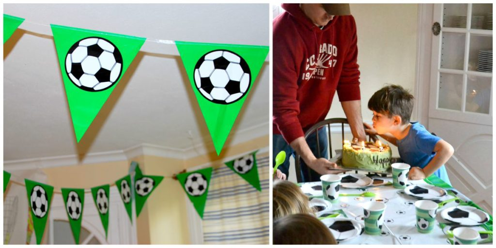 Soccer Themed Birthday Party Decor