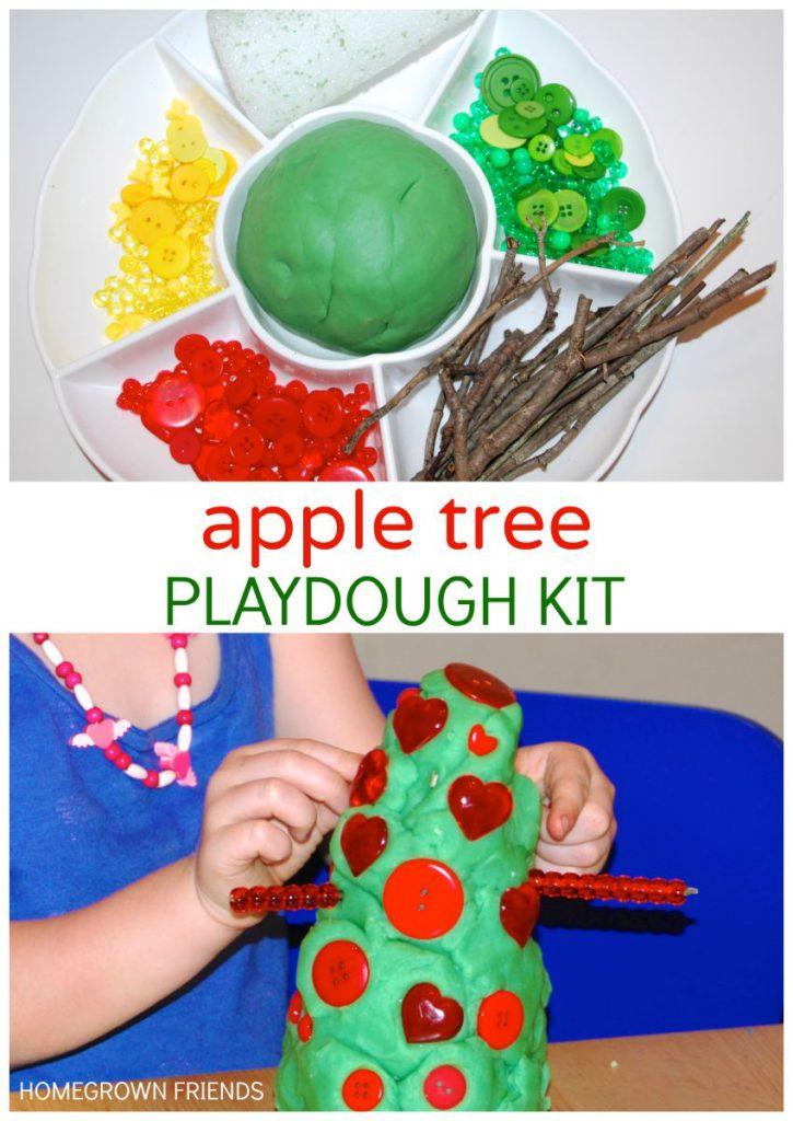 Apple Tree Playdough Kit Homegrown Friends