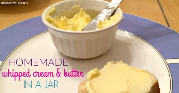 Homemade Whipped Cream and Butter in a Jar