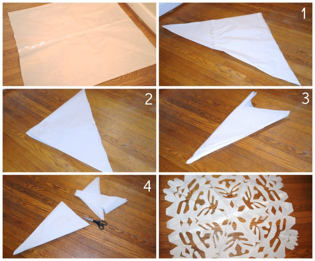 Making 3-D Paper Snowflakes | Paper snowflake template, Paper ... | 850x1024
