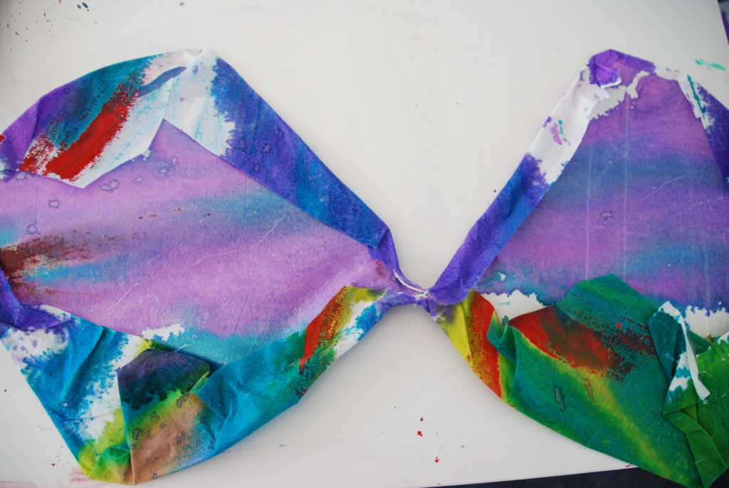 Watercolor Paint Drop Cloth Wall Pinterest