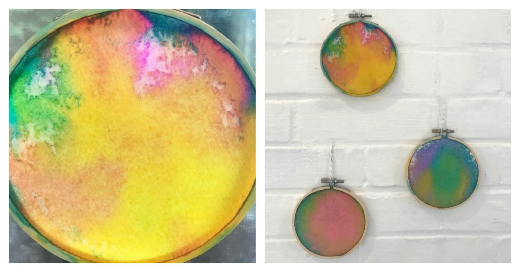 Watercolor Embroidery Hoop Paintings - Homegrown Friends